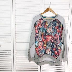 Jolt floral tapestry panel sweatshirt